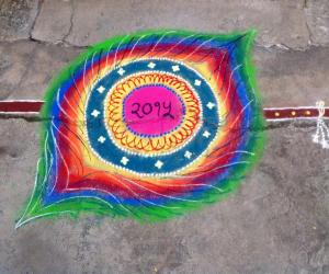 Rangoli: Happy New Year to all my Ikolam friends.. :)