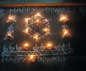 Rangoli: Diyas, diyas, diyas.........HAPPY DIWALI