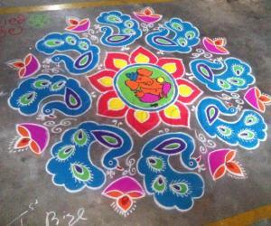 Ganesha rangoli 2015
