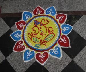 Rangoli for vinayaka chavithi