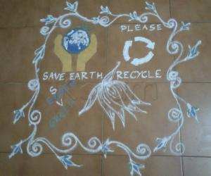 Earth day rangoli