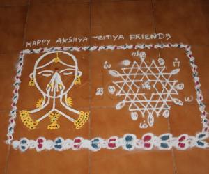 Akshaya Tritiya Rangoli