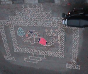 Rangoli: Hanuma Jayanthi Kolam