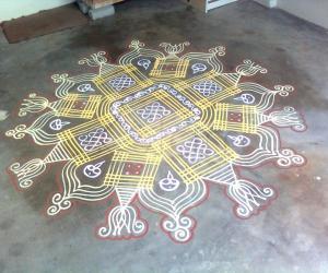 Rangoli: One karthigai Deepam