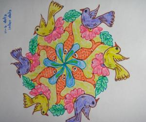 bird and fish kolam