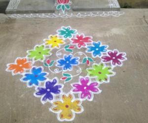 Friday Flower kolam