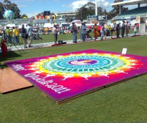 Rangoli: Rangoli at Diwali fair Sydney 2011