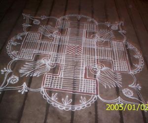 Rangoli: padi kolams