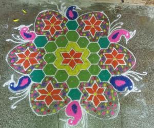 Rangoli: Happy vijayadashmi