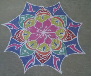 Rangoli: First kolam in 10 years