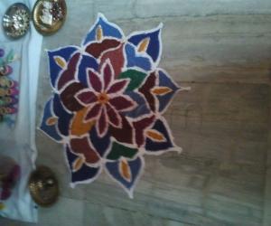 Admirable Lotus Kolam