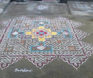 Margazhi dew drops kolam contest 2015