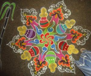 pongal traditional rangoli