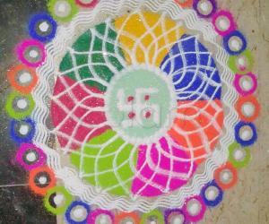Rangoli: Navratri - Day 6
