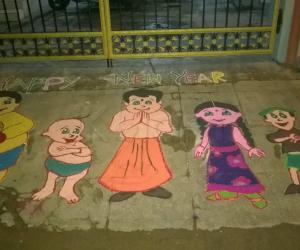 New Year Rangoli - 2016
