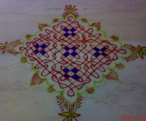 Just a rangoli on a casual day