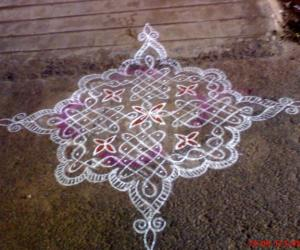 A rangoli on a normal day