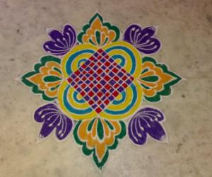 Coloured rangoli