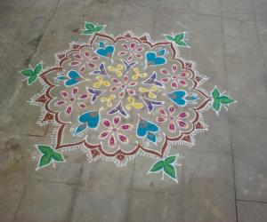 Tamil new year Rangoli