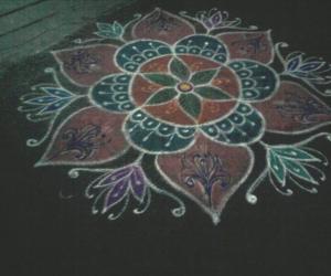 Rangoli by my neighbour  on vaikunta ekadahshi