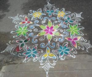 Rangoli: Rangoli for a local famous festival