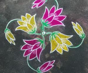 Rangoli: Flowers 15th