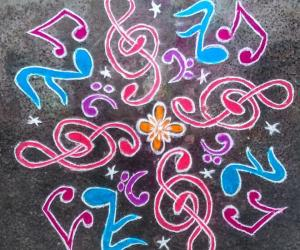 Rangoli: Welcoming the new year with MUSIC[Design credit to SAILU]