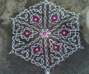 Rangoli: Happy Bhoghi