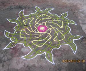 Rangoli: CHIKKU FLOWER