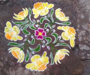 Rangoli:  HAPPY NEW YEAR FRIENDS