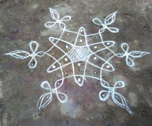 Rangoli: Simple chikku