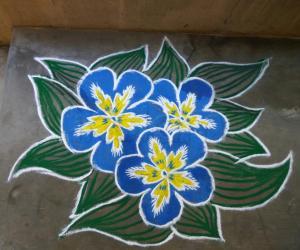 Rangoli: Eniya Tamizh putthandu nal vazhthukkal
