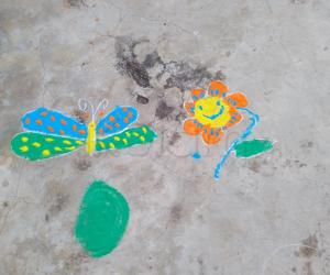 Rangoli: Happy diwali(My daughter's)