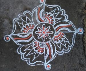Rangoli: symmetrical patterns