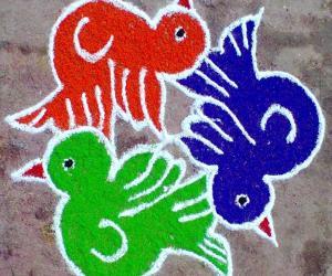 Rangoli: Colorful Birdies