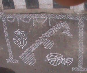 Rangoli: Musical instruments