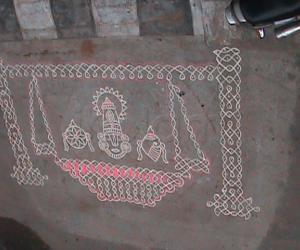 Vykunta Ekadashi Kolam