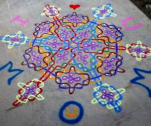 Rangoli: Mother's day rangoli
