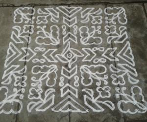 Butterfly - Dotted Kolam