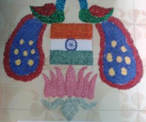 Rangoli: independence day