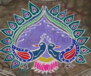 Peacock Kolam