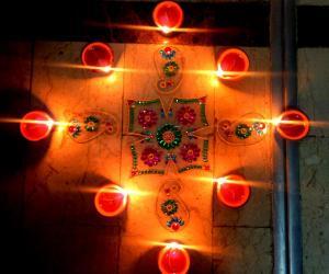 Rangoli: Karthigai Kolam