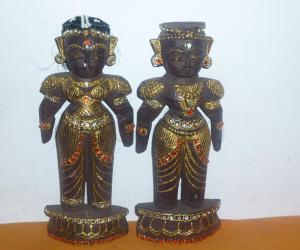 Tanjore Painted Marapachi Dolls