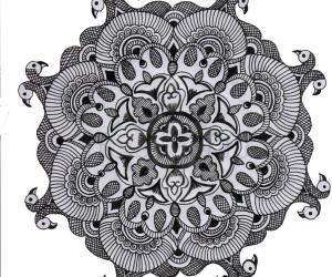 Black & white Simple rangoli