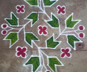 Rangoli: dotted one