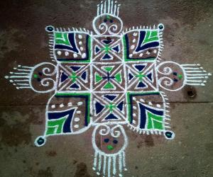 Freehand rangoli Happy Tamil New Year