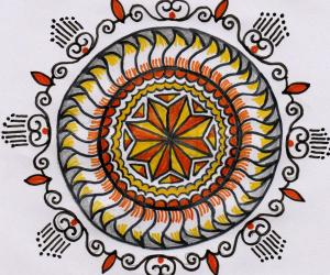 Rangoli: Freehand paper version
