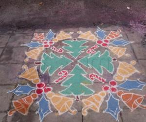 Rangoli: Christmas kolam