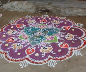 Rangoli: Republic day