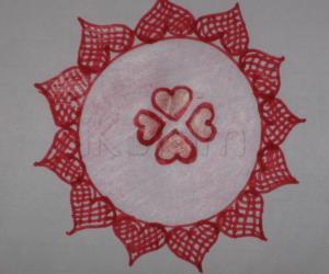 valentines day rangoli